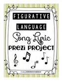 Figurative Language PROJECT with Popular Songs
