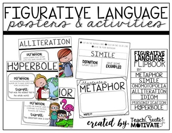 Figurative Language Pack {Posters, flapbooks, and more!}