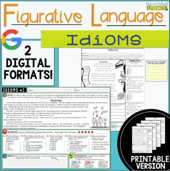 Figurative Language Passages: Idioms