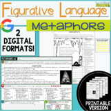 Figurative Language Passages: Metaphors- 2 Digital and 2 P