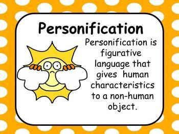 Figurative Language Personification Resources