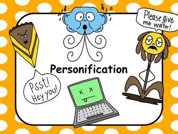Figurative Language Personification Resources