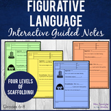 Figurative Language Pixanotes® (Picture Notes) + Dominoes Game