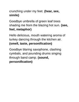 Figurative Language Poem
