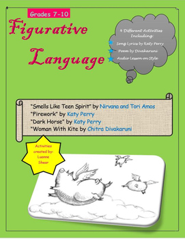 Figurative Language Poem and Song Lyric Analysis- Style, Tone and Mood