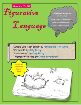 Figurative Language Poem and Song Lyric Analysis- Style, T