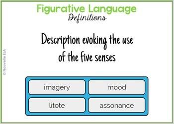 Figurative Language Quiz - Digital Version