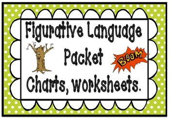 Figurative Language/ Poetic devices posters and worksheets packet