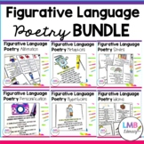 Figurative Language Poetry Bundle, Poems with Poetry Compr