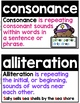 Figurative Language & Poetry Reading Word Wall or Flashcards