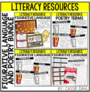 Figurative Language & Poetry Resource BUNDLE (Popcorn Themed)