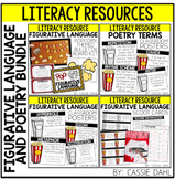Figurative Language & Poetry Resource BUNDLE (Popcorn Themed)