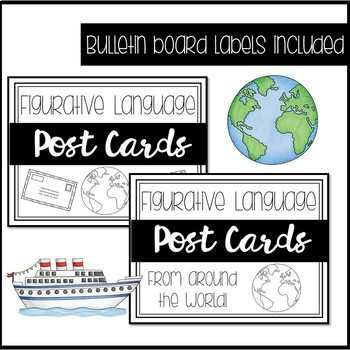 Figurative Language Post Card Activity