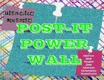 Figurative Language Post-It Power Wall
