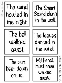 Figurative Language {Post it Note Practice}