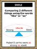 Figurative Language Poster Set - Burlap