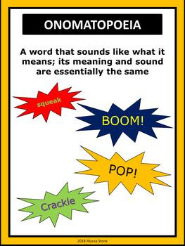 Figurative Language Poster Set - Charlie Brown Tribute Colors