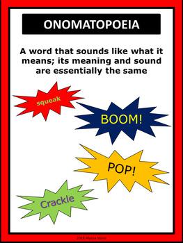 Figurative Language Poster Set - Dr. Seuss Tribute Colors