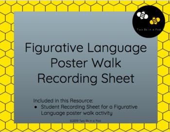 Figurative Language Poster Walk Recording Sheet