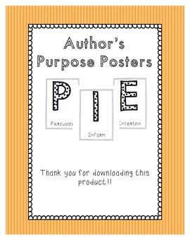 Author's Purpose PIE Posters
