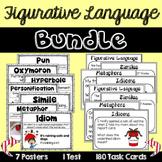 Figurative Language Poster and Task Card Bundle
