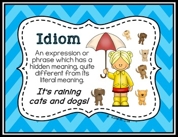 Figurative Language Posters for junior classrooms