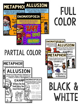 Figurative Language Posters - Anchor Charts