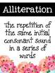 Figurative Language Posters {4 Designs: heartbeat, simple, floral, jar}