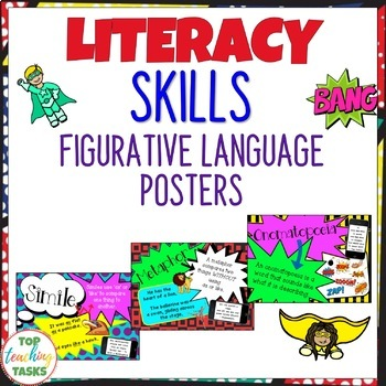 Figurative Language Posters (UK/NZ/AU Spelling)
