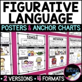 Figurative Language Posters, Anchor Charts & Reader's Notebook Sheets