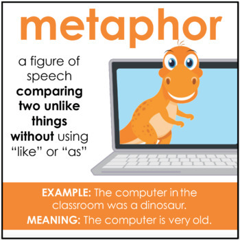 Figurative Language Posters & Bookmark