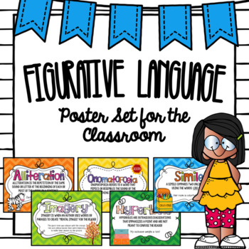 Figurative Language Posters- Bright Chevron