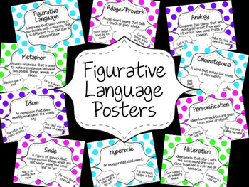 Figurative Language Posters - Bright Dots!