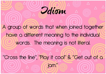 Figurative Language Posters: Brighten up writing!