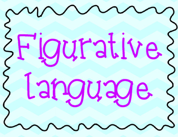 Figurative Language Posters- Chevron Background