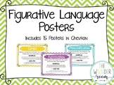 Figurative Language Posters - Chevron Posters - Types of F