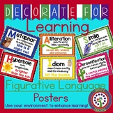 Figurative Language Posters - Colorful 11X17 or 8.5X11