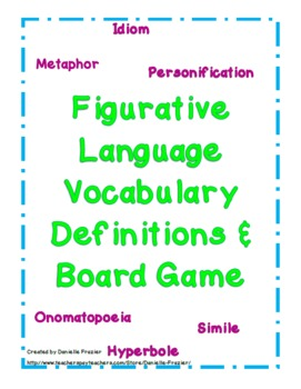 Figurative Language Posters, Game and Worksheet Pages