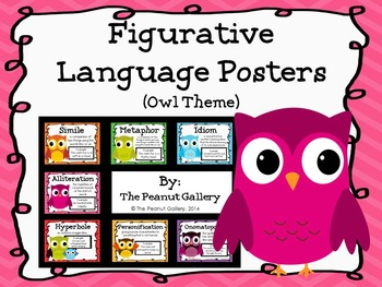 Figurative Language Posters (Owl Theme)