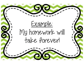 Figurative Language Posters Pink Green and Yellow Chevron