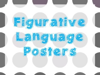 Figurative Language Posters Polka Dot