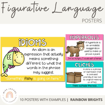 Figurative Language Posters {Rainbow}
