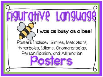 Figurative Language Posters ~ Seven Total