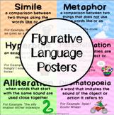 Figurative Language Posters: Simile, Metaphor, Hyperbole, Idiom & more...