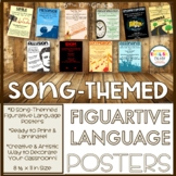 Figurative Language Posters-Song Themed and Ready to Print! {1st EDITION}