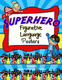 Figurative Language Posters Superhero Theme