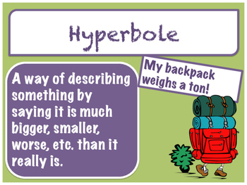 Figurative Language Posters & Task Cards (Color & BW Versions Incl.)