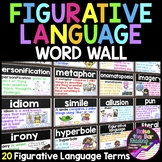 Figurative Language Posters, Word Wall or Flashcards