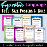 Figurative Language Posters and Quiz - Anchor Chart - Dist