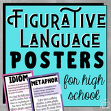 Figurative Language | Figures of Speech Posters for High School